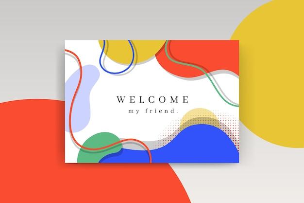 Modèle De Carte De Bienvenue Vecteur gratuit