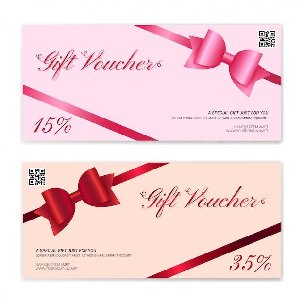 Modèle de carte-cadeau ou de bon de caisse Vecteur Premium