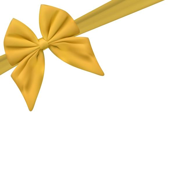 Modèle De Carte Cadeau Vierge Avec Noeud Dor Et Ruban
