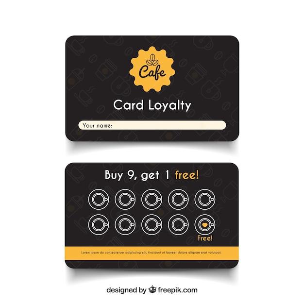 Modèle de carte de fidélité café élégant Vecteur gratuit