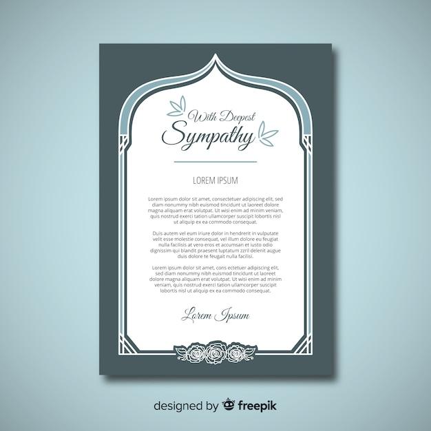 Modèle de carte de funérailles Vecteur gratuit