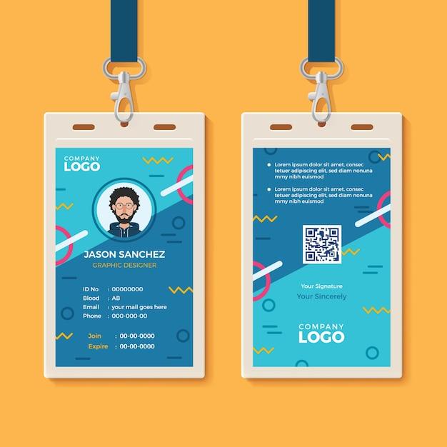 Modèle de carte d'identité créative moderne   Télécharger des Vecteurs Premium