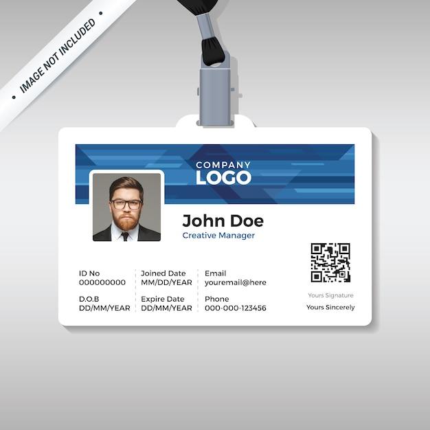 Modèle de carte d'identité d'entreprise Vecteur Premium