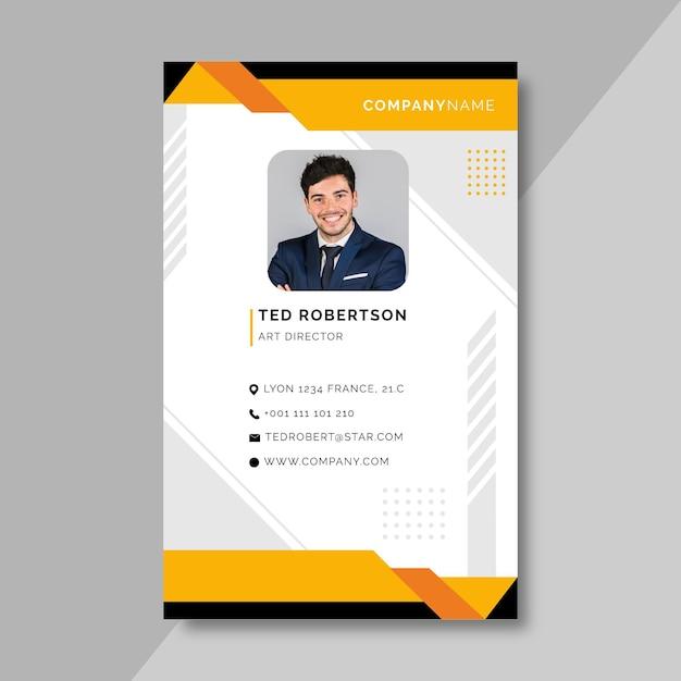 Modèle De Carte D'identité Professionnelle Avant Vecteur gratuit
