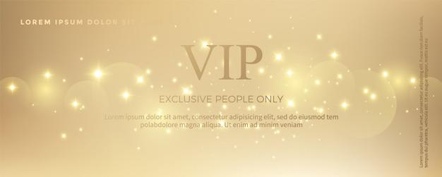 Modèle de carte d'invitation de luxe doré Vecteur Premium