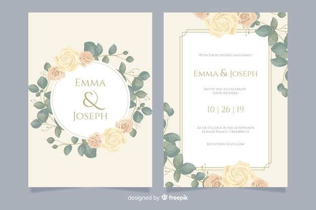 Modèle De Carte D Invitation De Mariage élégant