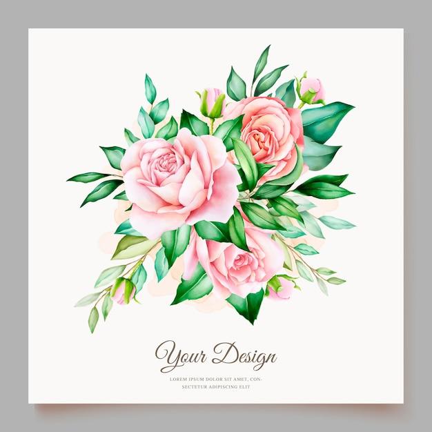 Modèle De Carte D'invitation De Mariage Magnifique Vecteur gratuit
