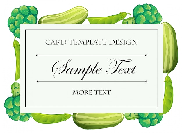Modèle de carte avec des légumes verts Vecteur gratuit