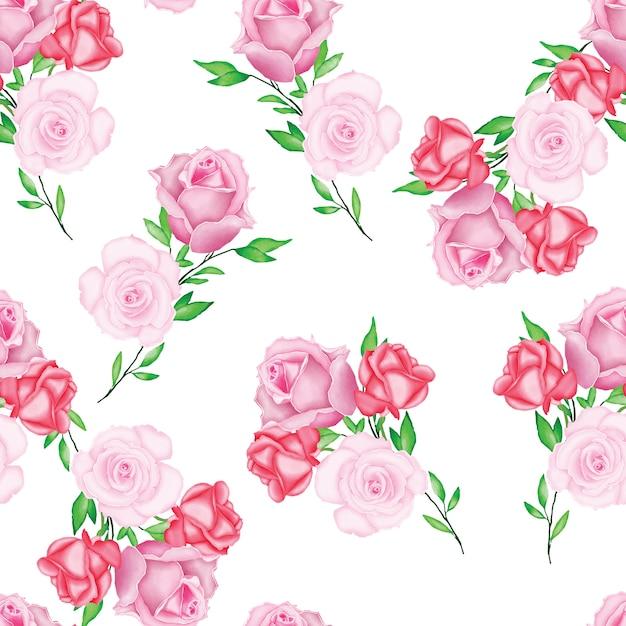Modèle de carte magnifique mariage aquarelle floral Vecteur Premium