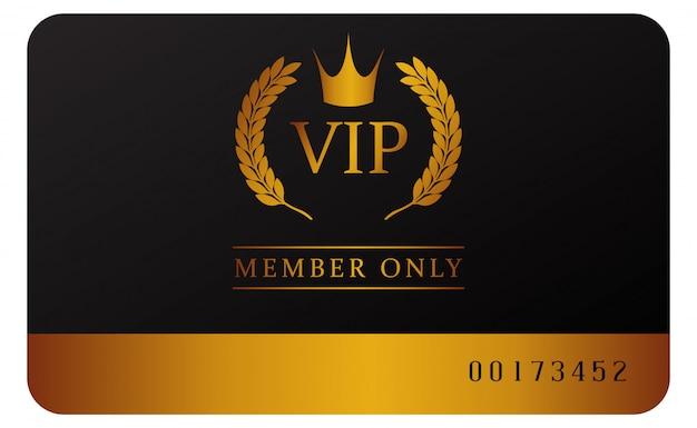 Modèle de carte de membre vip glamour Vecteur Premium