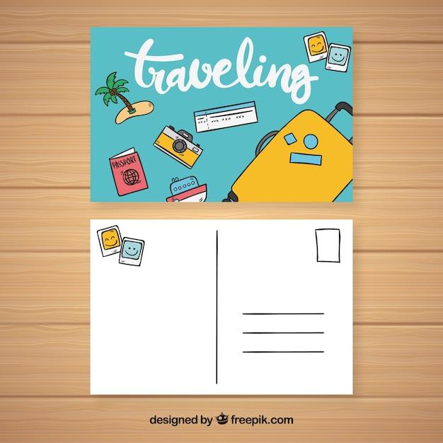 Modèle de carte postale | Télécharger des Vecteurs gratuitement