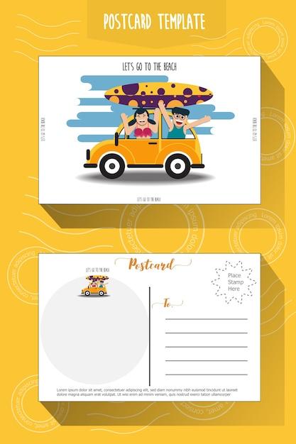 Modèle De Carte Postale | Vecteur Premium