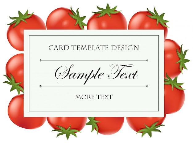 Modèle de carte avec des tomates fraîches Vecteur gratuit