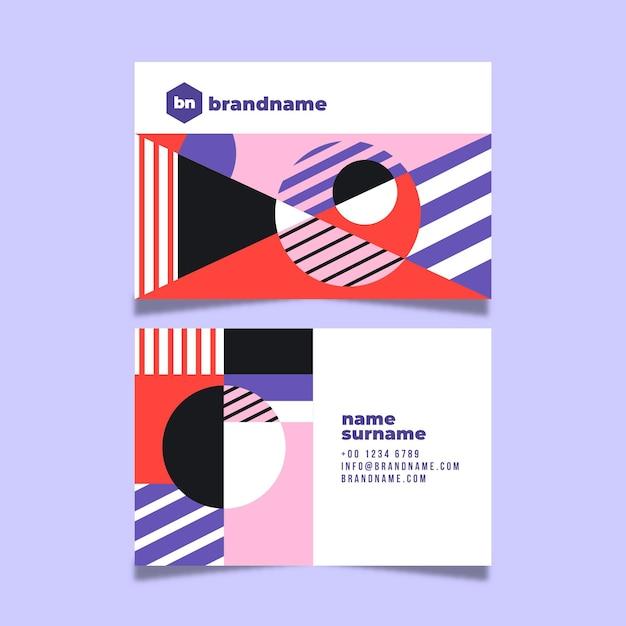 Modèle De Carte De Visite Abstrait Coloré Vecteur gratuit