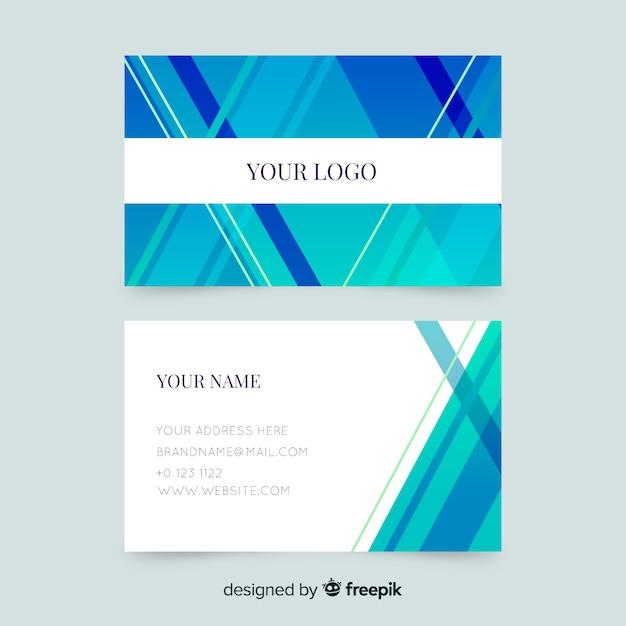 Modèle de carte de visite abstrait rayé Vecteur gratuit