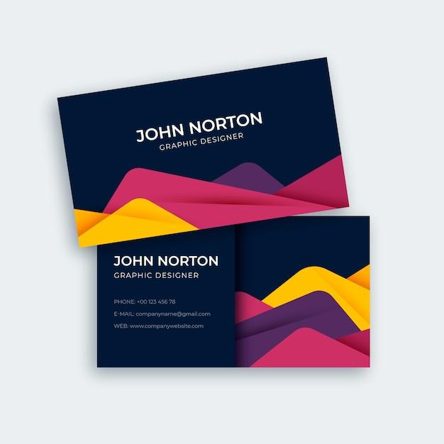 Modèle De Carte De Visite Abstraite Moderne Coloré Vecteur gratuit