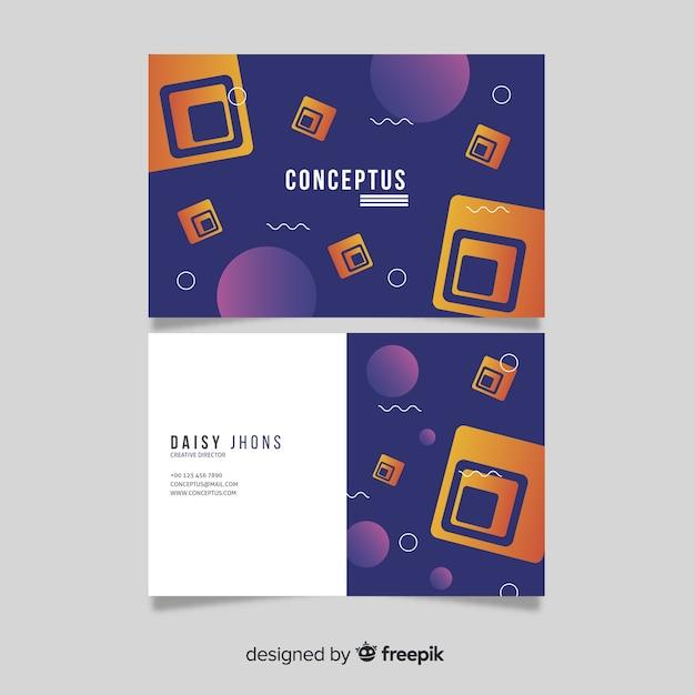 Modèle de carte de visite abstraite Vecteur gratuit