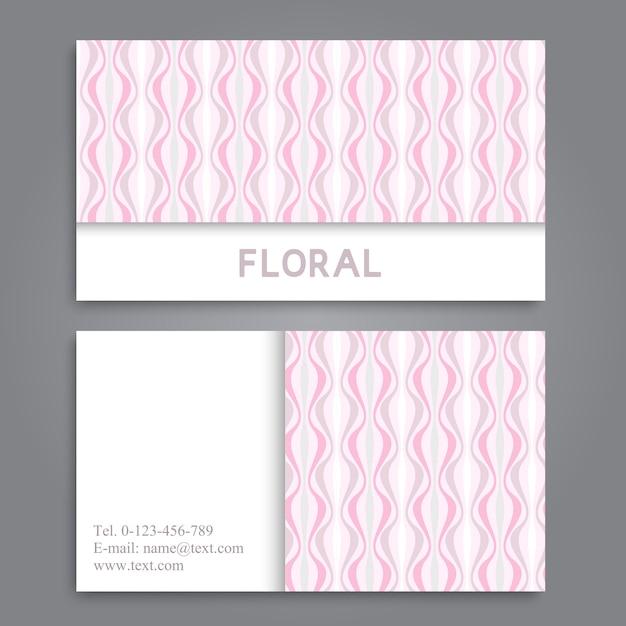 Modèle de carte de visite avec belle fleur Vecteur gratuit