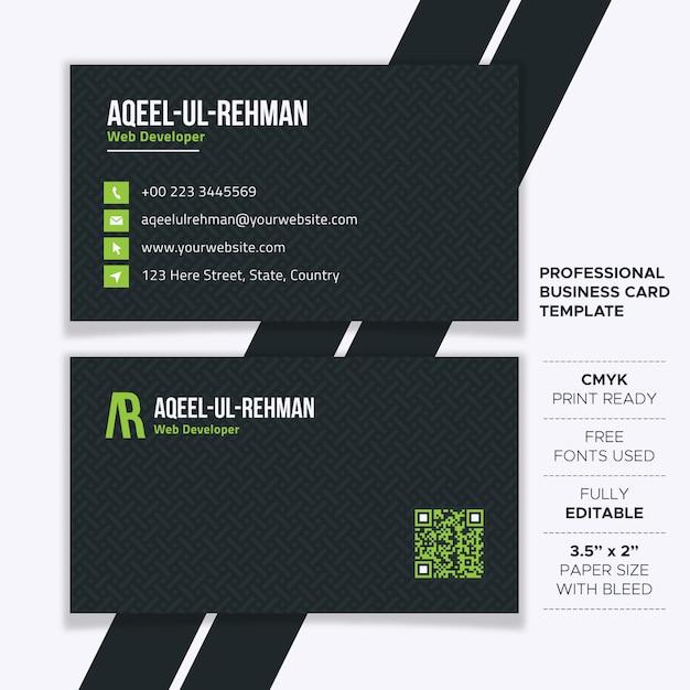 Modèle de carte de visite créative professionnelle Vecteur Premium