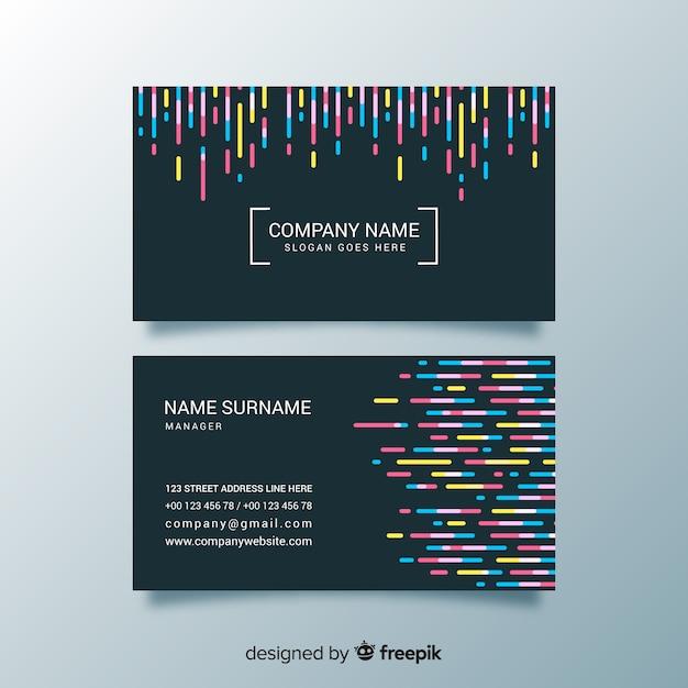 Modèle de carte de visite créative Vecteur gratuit