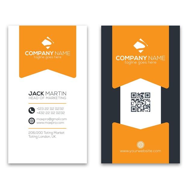 Modèle de carte de visite créative Vecteur Premium