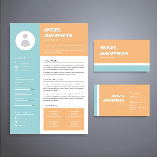 Modele De Carte Visite Cv Simple Et Professionnel