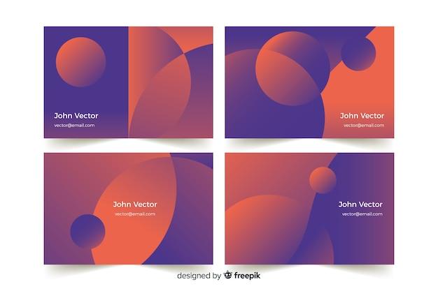 Modèle de carte de visite dégradé abstrait Vecteur gratuit