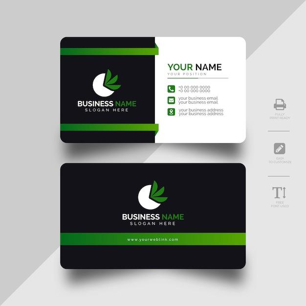 Modèle de carte de visite d'entreprise moderne Vecteur Premium