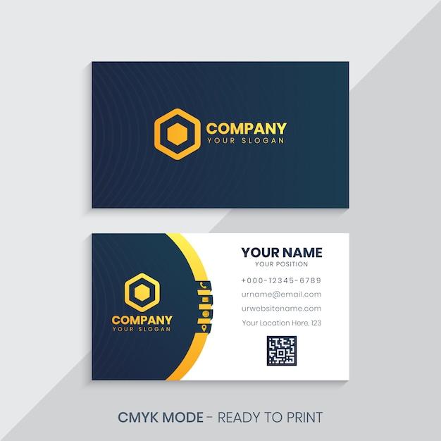 Modèle de carte de visite d'entreprise Vecteur Premium