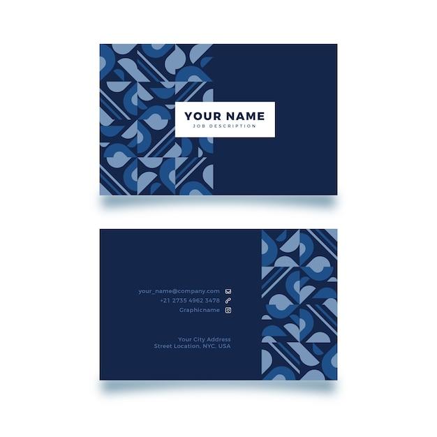 Modèle De Carte De Visite Espace Copie Et Formes Bleues Vecteur gratuit