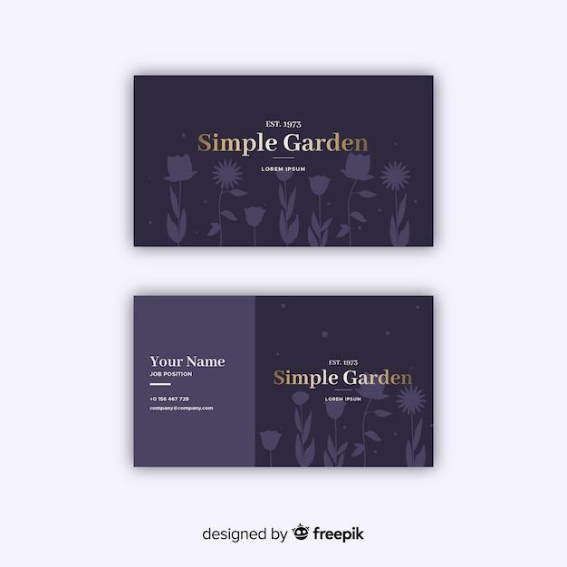 Modèle de carte de visite floral élégant Vecteur gratuit