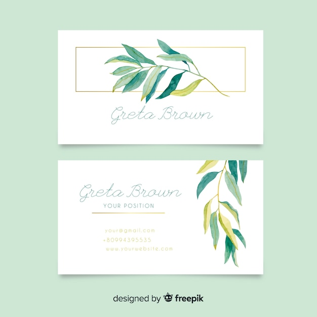 Modèle de carte de visite floral Vecteur gratuit