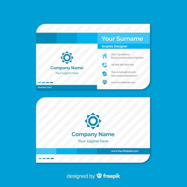 Modèle de carte de visite avec forme abstraite Vecteur gratuit