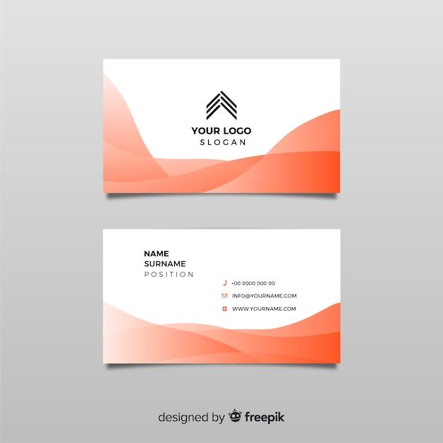 Modèle de carte de visite avec des formes abstraites Vecteur gratuit