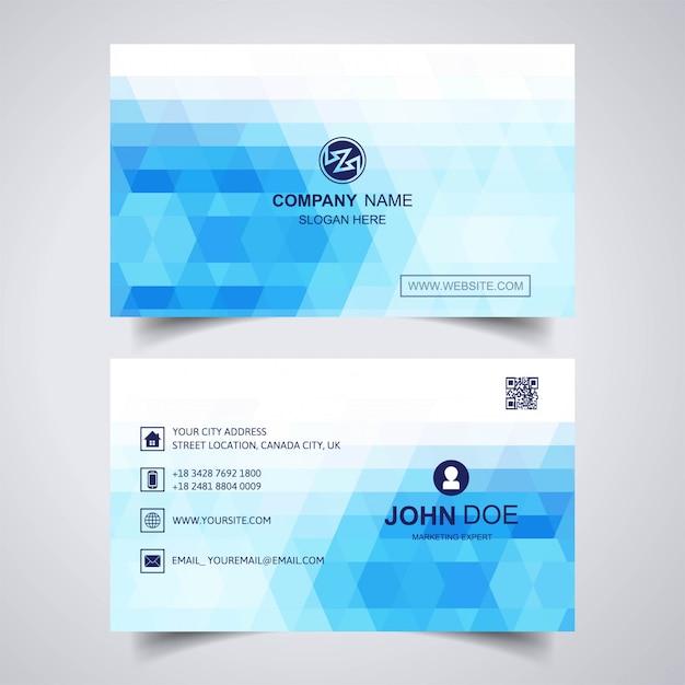 Modèle De Carte De Visite Géométrique Abstrait Bleu Vecteur gratuit