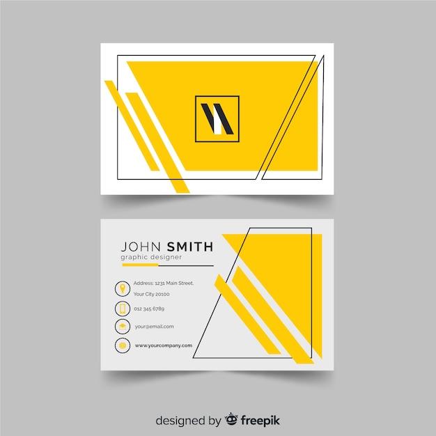Modèle de carte de visite géométrique Vecteur gratuit