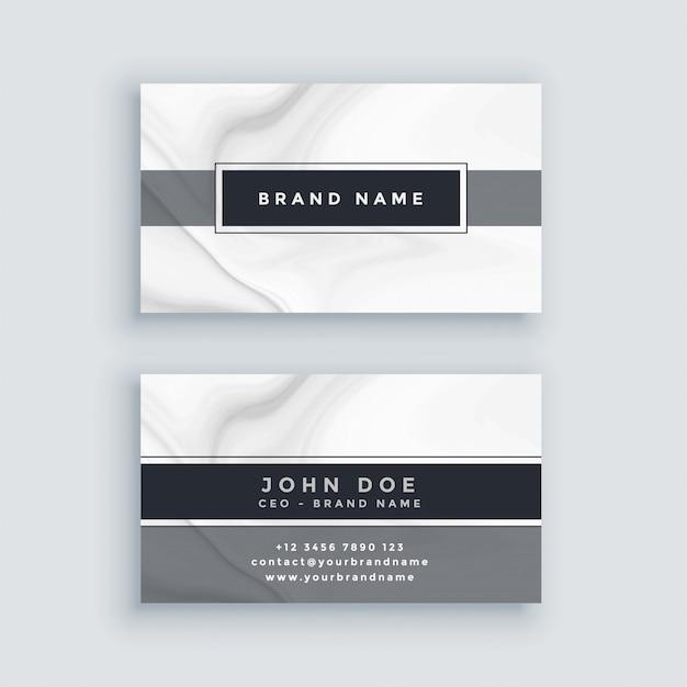 Modèle de carte de visite gris élégant avec toile de fond en marbre Vecteur gratuit