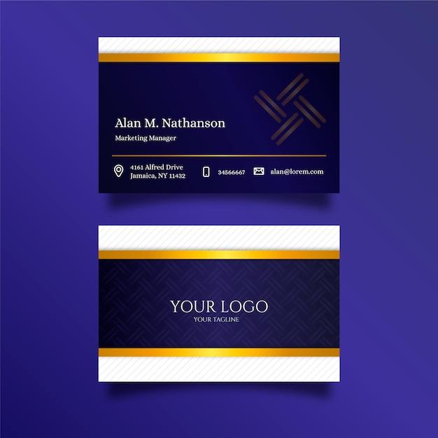 Modèle de carte de visite de luxe Vecteur gratuit