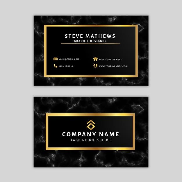 Modèle de carte de visite en marbre Vecteur Premium