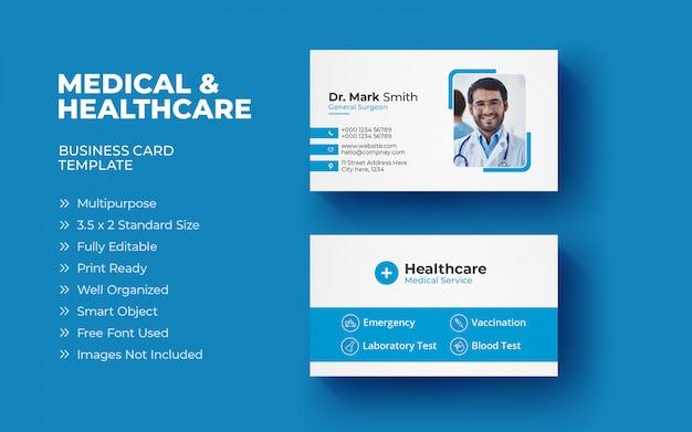 Modèle De Carte De Visite Médicale Vecteur Premium