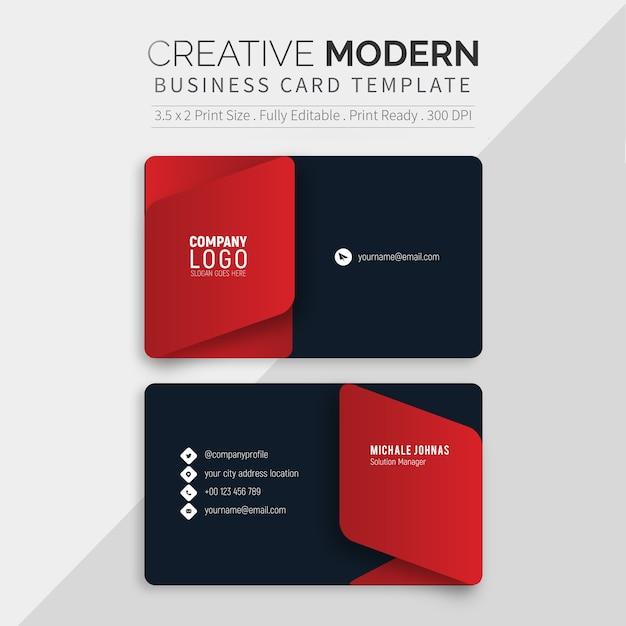 Modèle de carte de visite noir moderne Vecteur Premium