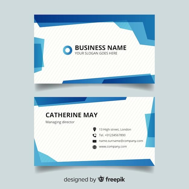 Modèle de carte de visite avec nom de l'entreprise Vecteur gratuit