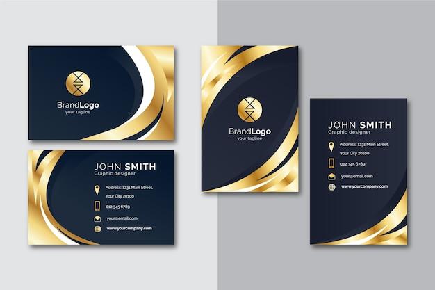 Modèle de carte de visite en or Vecteur gratuit