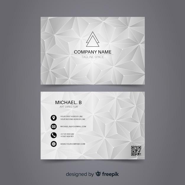 Modèle de carte de visite polygonale abstraite Vecteur gratuit