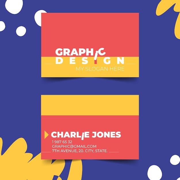 Modèle de carte de visite pour graphiste drôle Vecteur gratuit