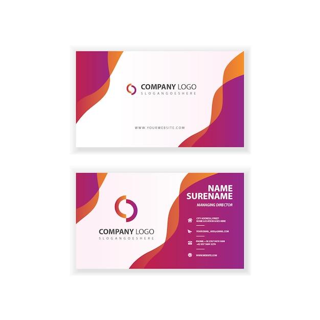 Modèle de carte de visite professionnel de l'entreprise Vecteur Premium