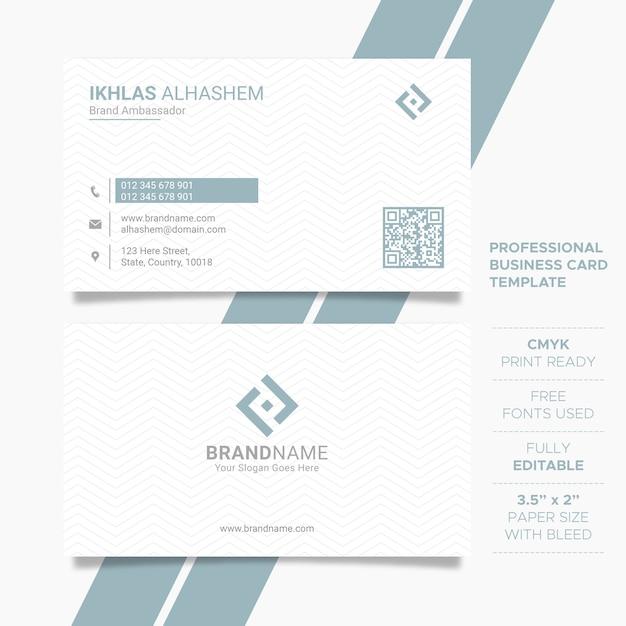 Modèle de carte de visite propre entreprise Vecteur Premium