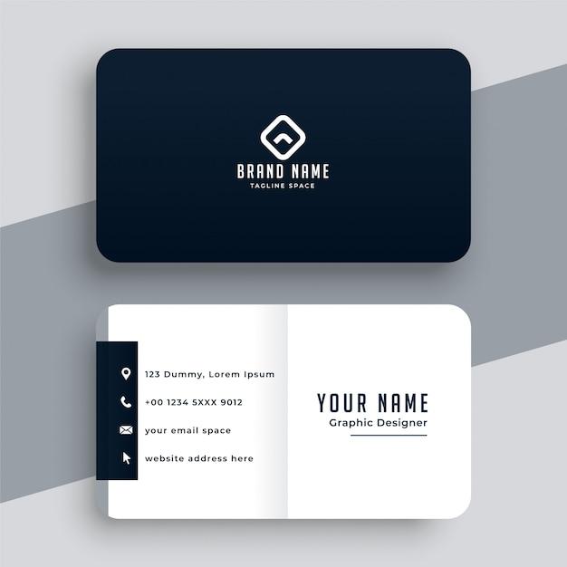 Modèle De Carte De Visite Simple Et élégant Noir Et Blanc Vecteur gratuit
