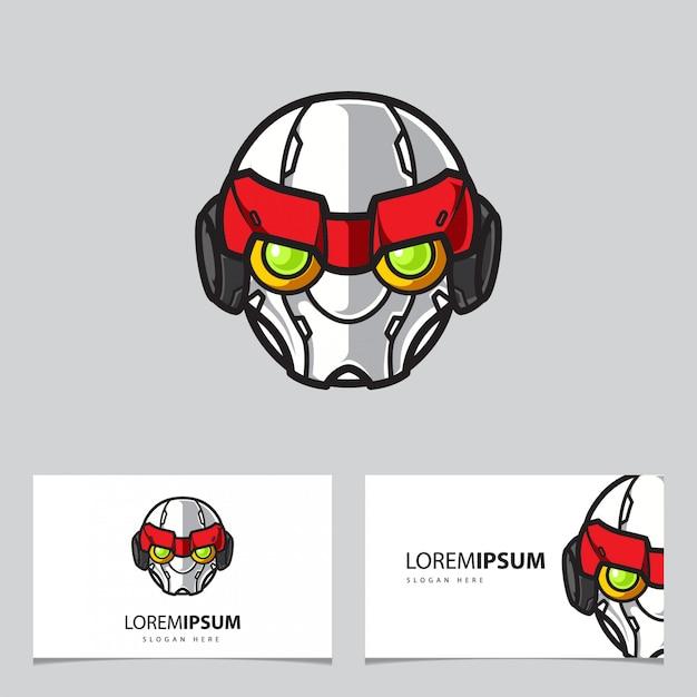 Modèle De Carte De Visite Simple Logo Mascot Logo Vecteur Premium