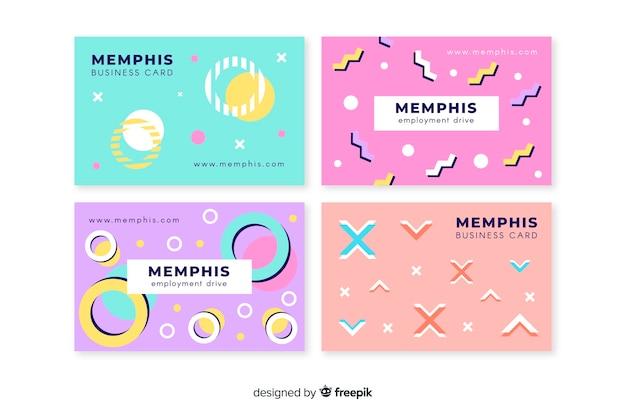 Modèle de carte de visite style memphis Vecteur gratuit